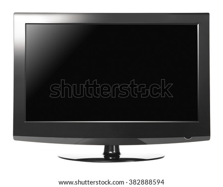 Computer monitor isolated on white background #382888594