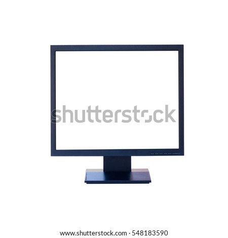 Computer monitor isolated on white background #548183590