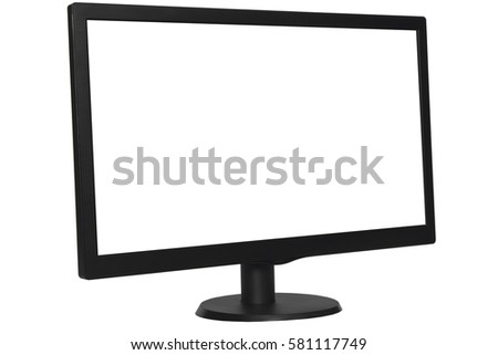 computer monitor isolated on white background #581117749