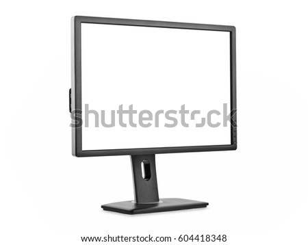 Computer monitor isolated on white background #604418348