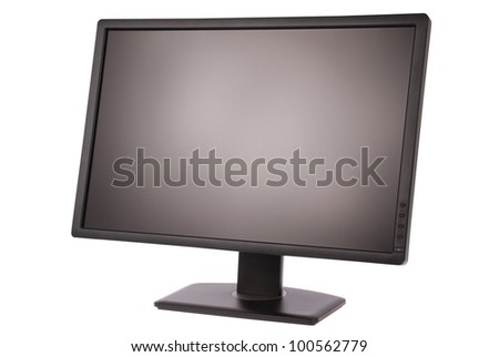 Computer monitor on white background. Clipping path included. Separate clipping path to the screen