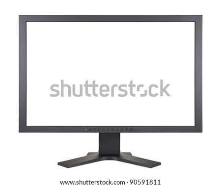 Computer monitor with clipping path #90591811