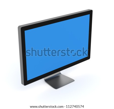 Computer Monitor with clipping path - Isolated on White Background