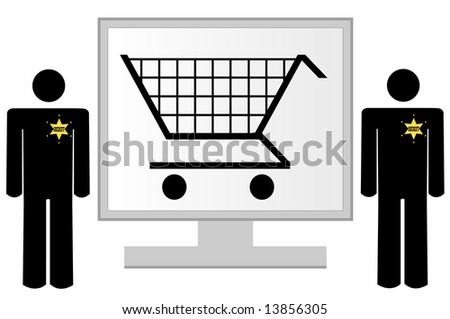 computer monitor with security for online shopping