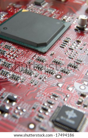 Computer Mother Board - stock photo