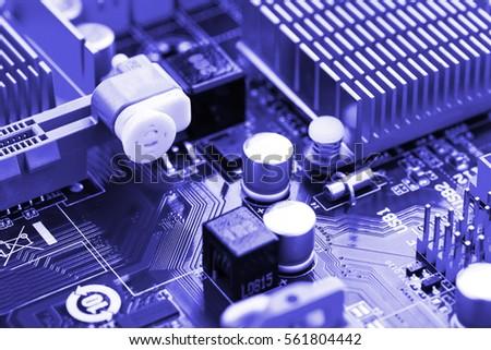 Computer motherboard closeup #561804442
