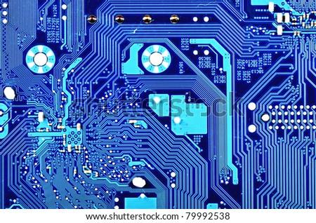 Computer Motherboard Closeup Stock Photo 79992538 ...