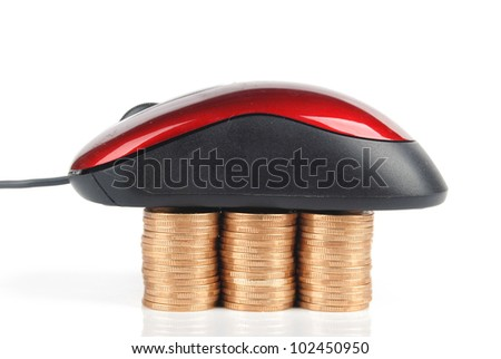 Computer mouse and coin