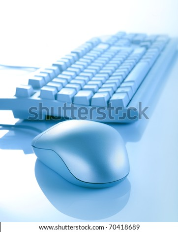 computer mouse and keyboard - stock photo