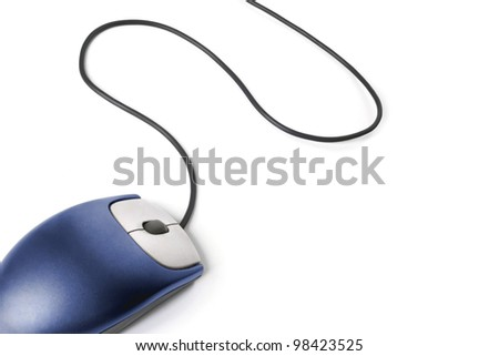 Computer mouse - Blue on white background #98423525
