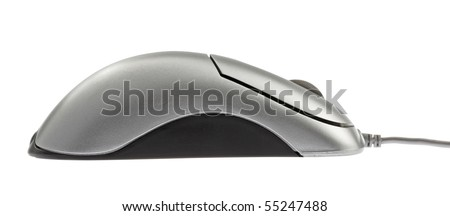 computer mouse,isolated on white with clipping path.