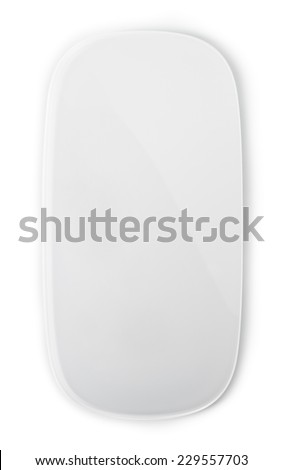 Computer mouse on a white background, close-up #229557703