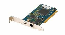 Computer network card on white isolated background