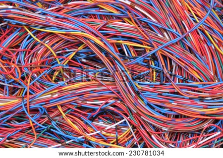 Computer network connections, global information chaos