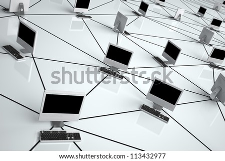 Computer Network - High quality render -