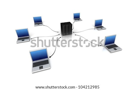 Computer network - Internet concept - stock photo