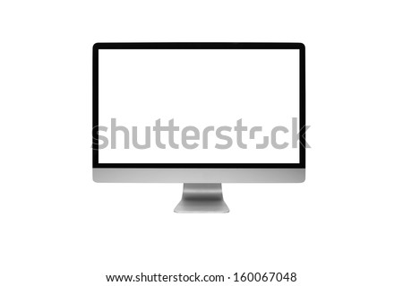 computer on withe background