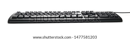 Computer, pc keyboard isolated on white background #1477581203