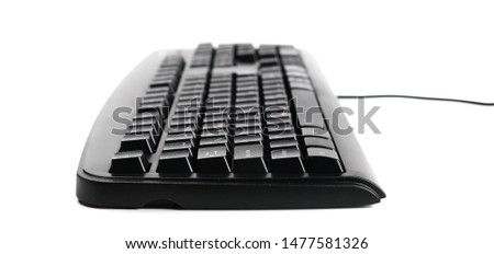 Computer, pc keyboard isolated on white background #1477581326