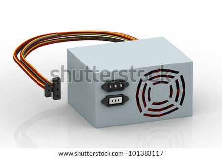 computer PSU - stock photo