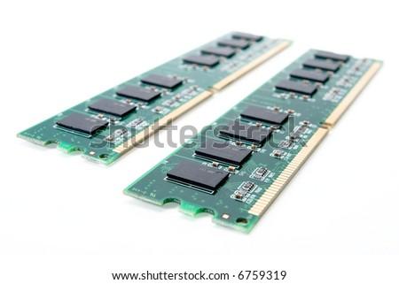 Computer RAM Memory Card - stock photo