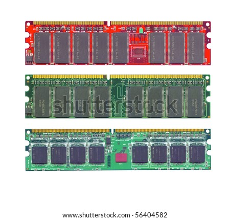 Computer ram memory high resolution scanned