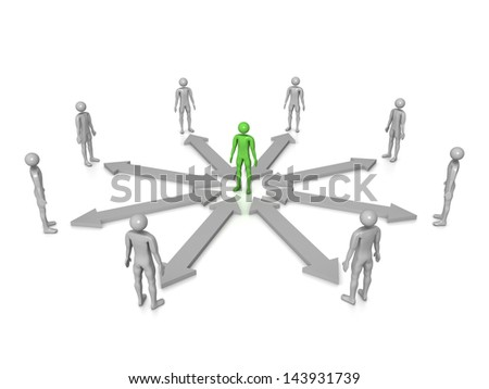Computer Rendered Graphic for the concept of leadership