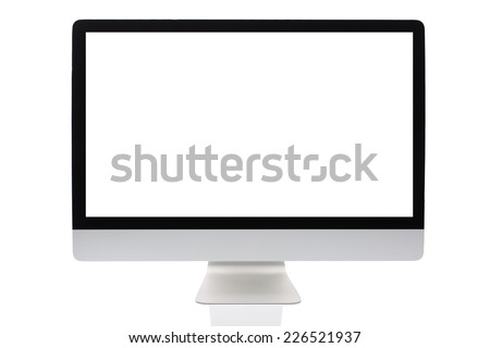 Computer screen isolated on a white background