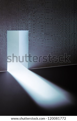 Computer security access with binary digits - stock photo