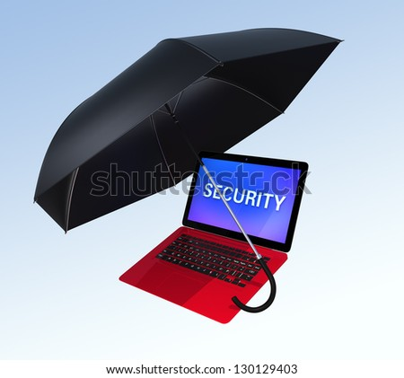 computer security concept  with clipping path - stock photo
