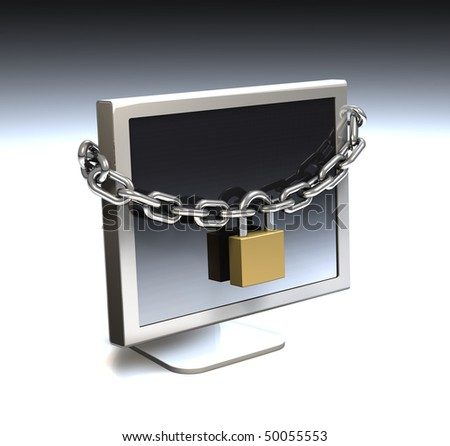Computer security, locked computer