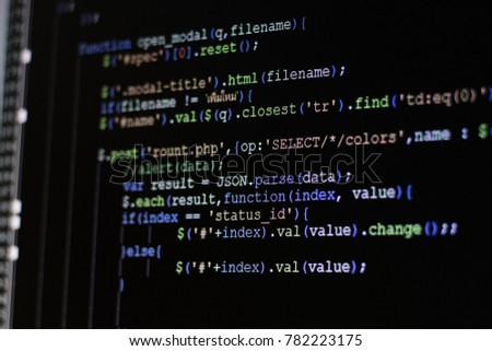 Computer source code programmer script developer programming monitor i am programmer this is my source code web #782223175