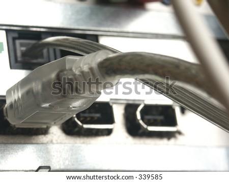 computer usb plug - stock photo