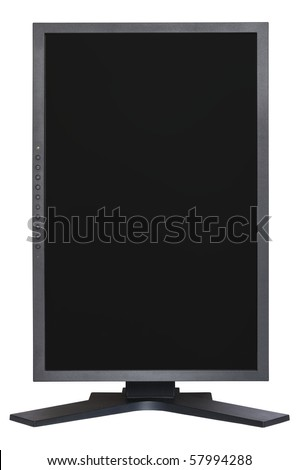 Computer vertical LCD Monitor isolated on white background #57994288