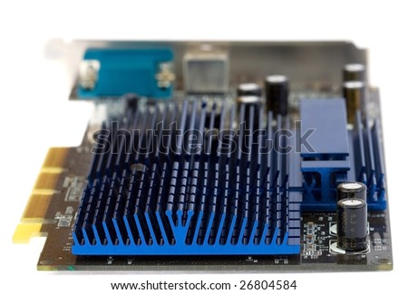 Computer video card, isolated on white background