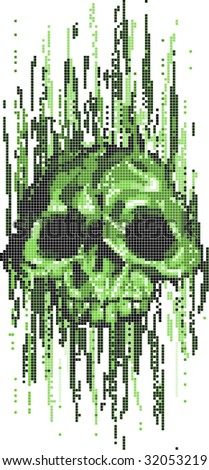 computer virus skull concept  illustration