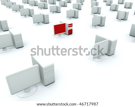 Computers isolated on white