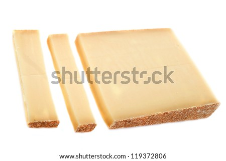 comte cheese in front of white background