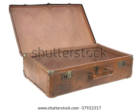 Concentration camp open luggage
