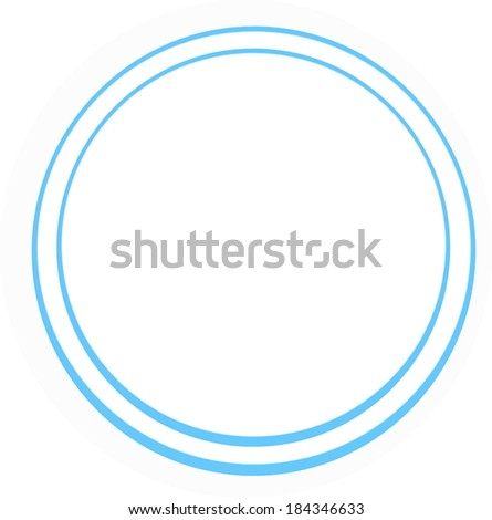 concentric blue rings on a white background