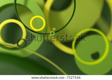 concentric circles background 3d rendering - stock photo