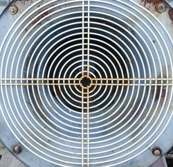 Concentric circles from an old grain bin fan