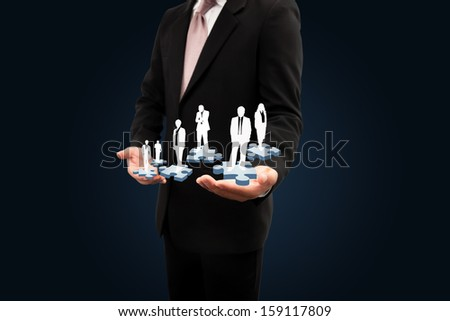 Concept about business leaders. teamwork.