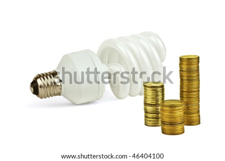 Concept about economy and save of the electricity
