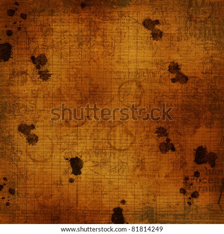 Concept abstract background with dirty coffee stains