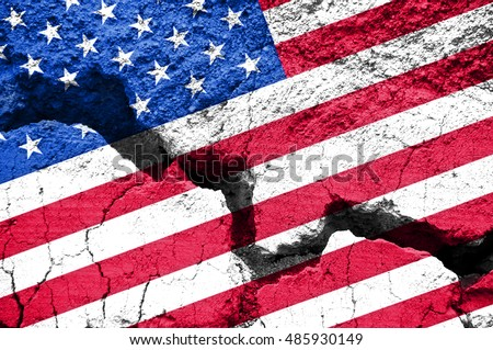 concept  american flag on...