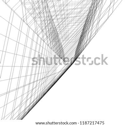 concept architecture 3d illustration #1187217475