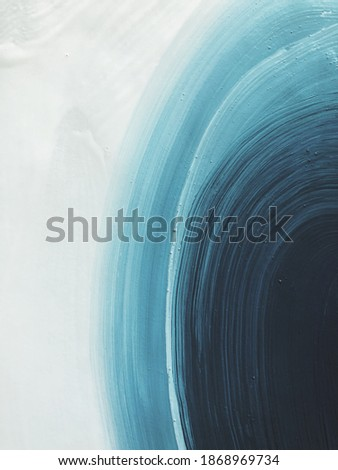 concept blue turquoise white abstract acrylic with brush strokes. beautiful background. modern Art Photo stock ©