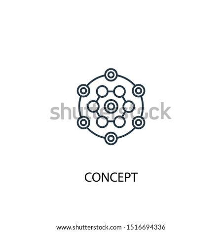 concept concept line icon. Simple element illustration. concept concept outline symbol design. Can be used for web and mobile UI/UX