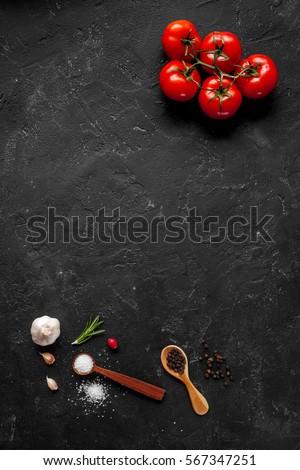 concept cook work on dark...